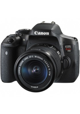 CANON EOS DIGITAL REBEL T6I (24.2 MEGAPIXELS) C/ OBJ. 18-55MM F/3.5-5.6 IS STM