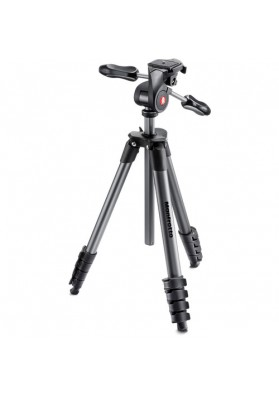 Tripé Manfrotto de alumínio Compact Advanced MKCOMPACTADV-BK
